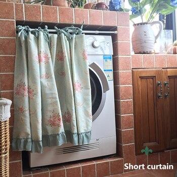 Senisaihon Рождество Half-Шторы Розовые розы узор в римском стиле Шторы стиральная машина пыли Шторы для Кухня двери шкафа