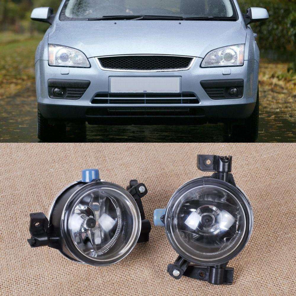 DWCX 2pcs New Black Left +Right Side Fog Lights Lamp H8 55W 12V Fit for Ford Focus 2005 2006 2007 3M51-15K201-AA 3M51-15K202-AA mastering barbecue