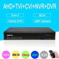 4mp CCTV Camera Blue Ray XMeye Hi3520D 4M N 8CH 8 Channel Coaxial Hybrid WIfi 6