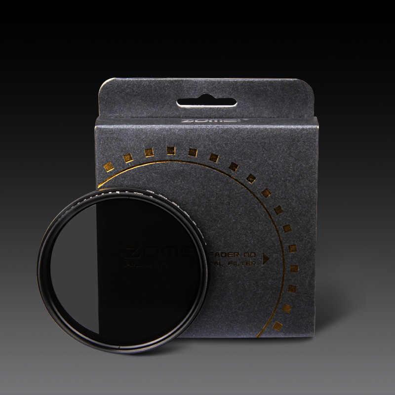 Zomei 82mm ND2-400 Fader ND Variável Filtro ND2 para ND400 Ajustável hoya densidade neutra para canon nikon sony camera lens 82mm