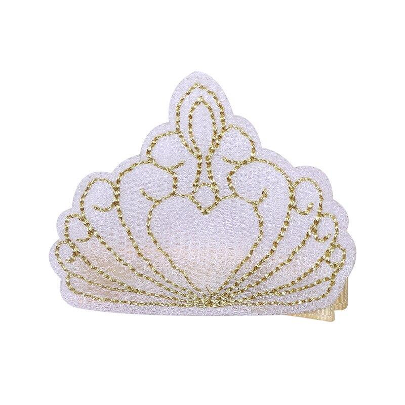 10pcs / lot hoge kwaliteit borduurwerk kroon haarspeldjes baby - Babykleding - Foto 4
