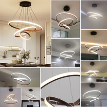 Modern LED chandelier for dinning room living room White/Black/Coffee Color lampadario moderno Lustre Chandelier AC85 265V