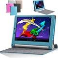 Novo caso capa de couro para lenovo yoga tablet 2 10 yoga2 1050F 1050L 1051F 1051L 10.1 Tablet Casos De Couro Magnética Tampa Flip
