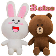 35cm 50cm 70cm Movies & TV Brown Bear and Cony Rabbit Stuffed Animal Plush Toy Korean Cartoon Figure Soft Doll Gift for Children(China)