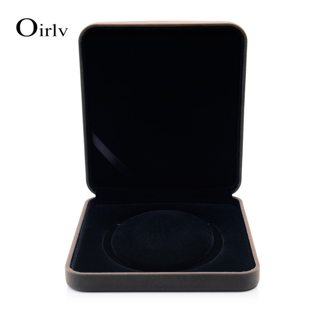 Oirlv  Free Shipping Fashion Velvet Pearl Necklace Box 1cm Dismeter Necklace Gift Present Case Holder Necklace Storage Case