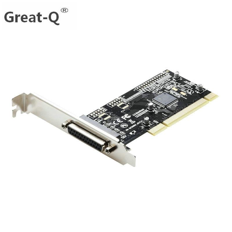 Große-Q 1 Hafen I/O 25pin Parallel LPT riser card PCI Erweiterungskarte Adapter PCI DB25 drucker Port adaptator AX9865 chip