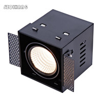 Square LED Stores Down Light 12W /2*12W COB LED Recessed Ceiling Lamp Single/Double Head Downlight led Grille Spot Light