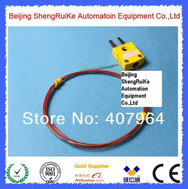 TT K 40 SLE K type thermocouple with Male OMEGA Connector ,length 1M ...