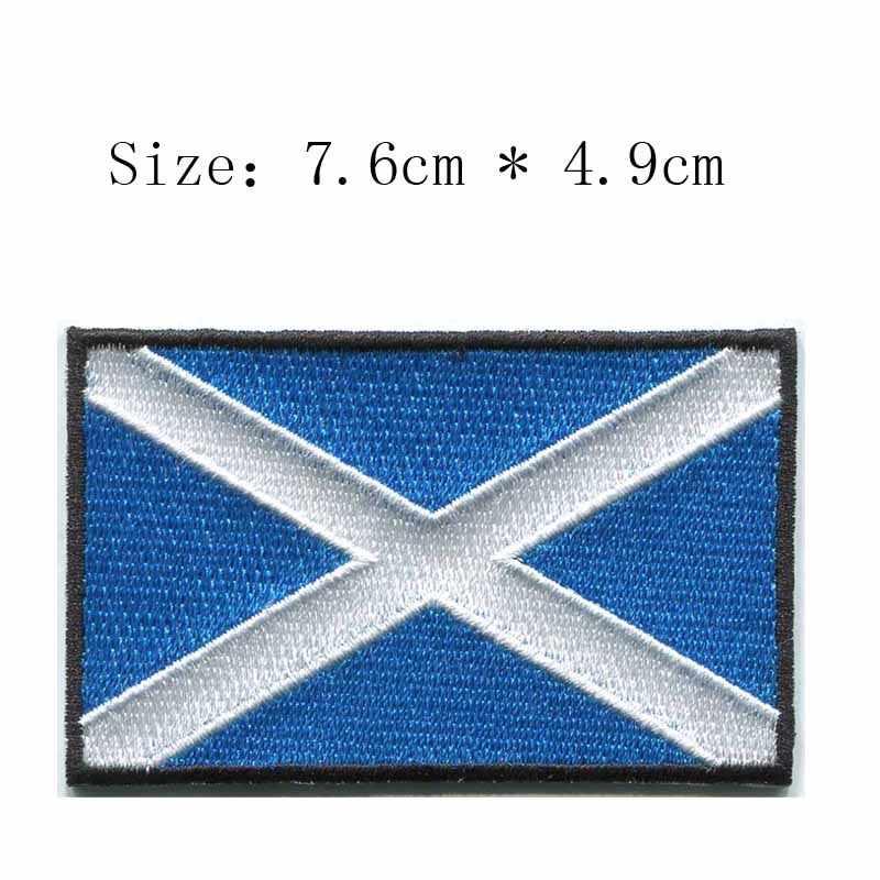 Шотланд 7,6 см Широкий вышивной Флаг патч для железных патчей/нашивка на одежду/Заказная заплата