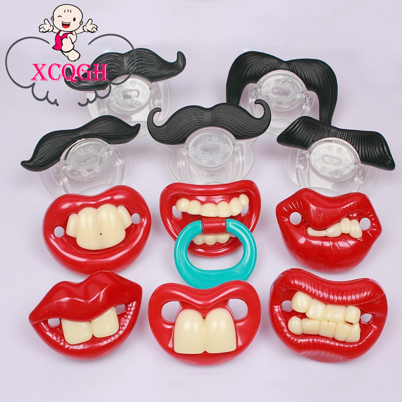Baby Pacifier Feeding Dummies Chupeta Funny Nipples Teethers Mustache Infant Soothers Vampire Pacifiers For Children