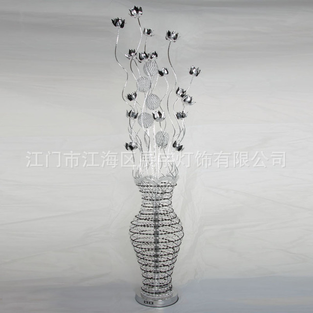 Aluminium wire floor lamp environmental protection aluminum wire aluminium wire floor lamp environmental protection aluminum wire floor lamp creative flower bas bedside greentooth Images