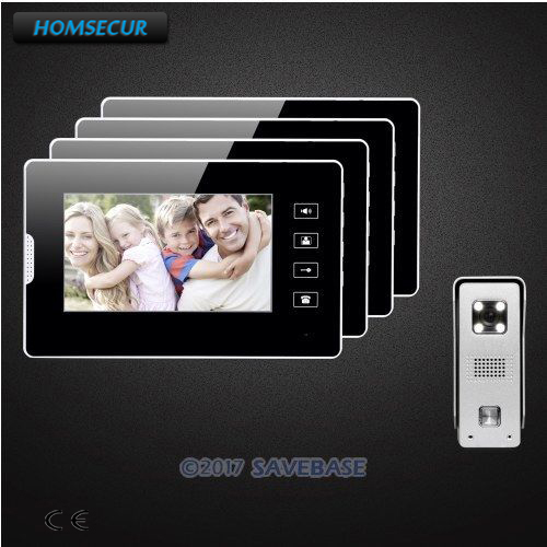 HOMSECUR 7 Video Door Intercom System with Intra-monitor Audio Intercom for House/ Flat