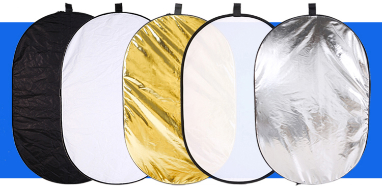 Photo Studio 31x47 inch 80x120cm 5-in-1 reflector Translucent/Gold/Silver/White/Black Oval Collapsible  Reflector  Carrying Case акустика центрального канала paradigm studio cc 490 v 5 piano black