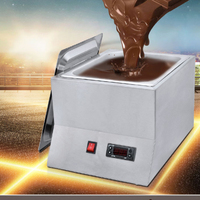 Commercial digital Electric Chocolate Fountains Melting Machine , single Chocolate Melt Pots Chocolate Melter Pan