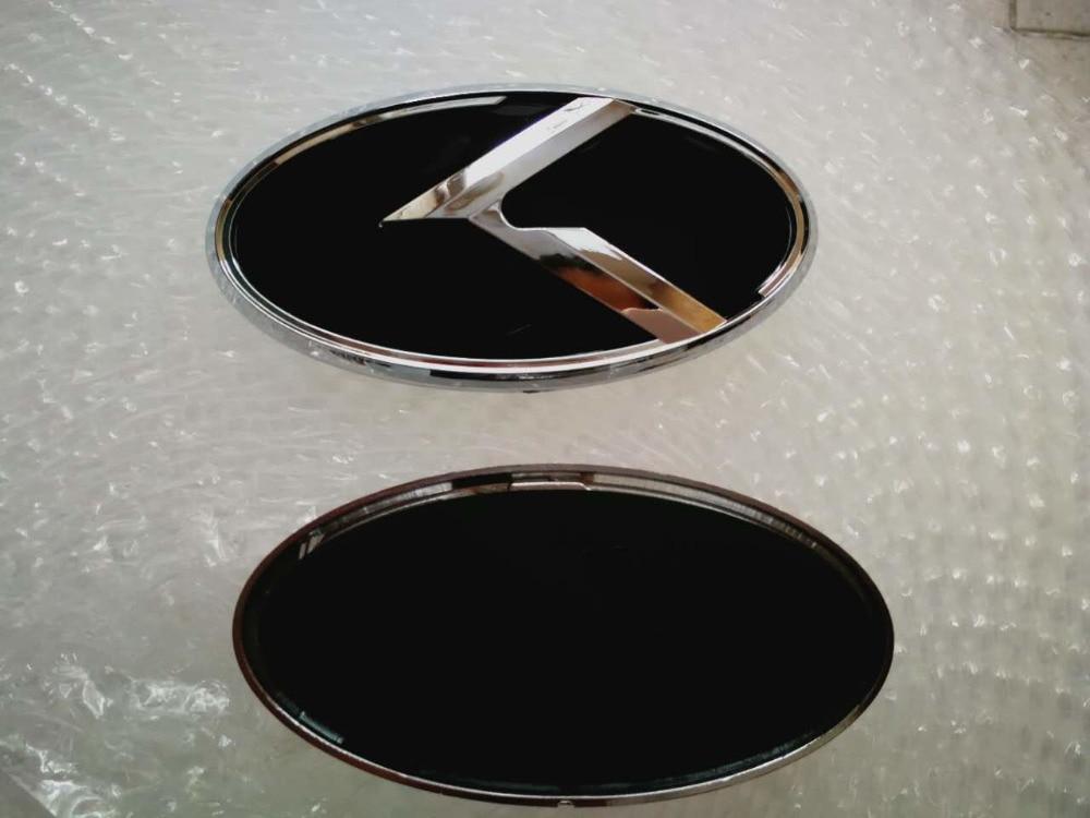 New Car K Logo 129x65mm Front Emblem Badge Sticker For Kia K5 Car