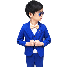 Flower Boys Formal Wedding Suit Kids Piano Dance Blazer+Pant