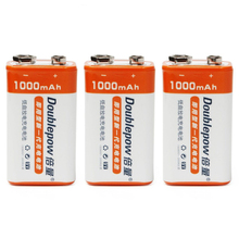 3pcs/set Original Doublepow 9V 1000mAh LSD Li-ion Rechargeable Battery Prismatic Batteries with 1200 Cycle