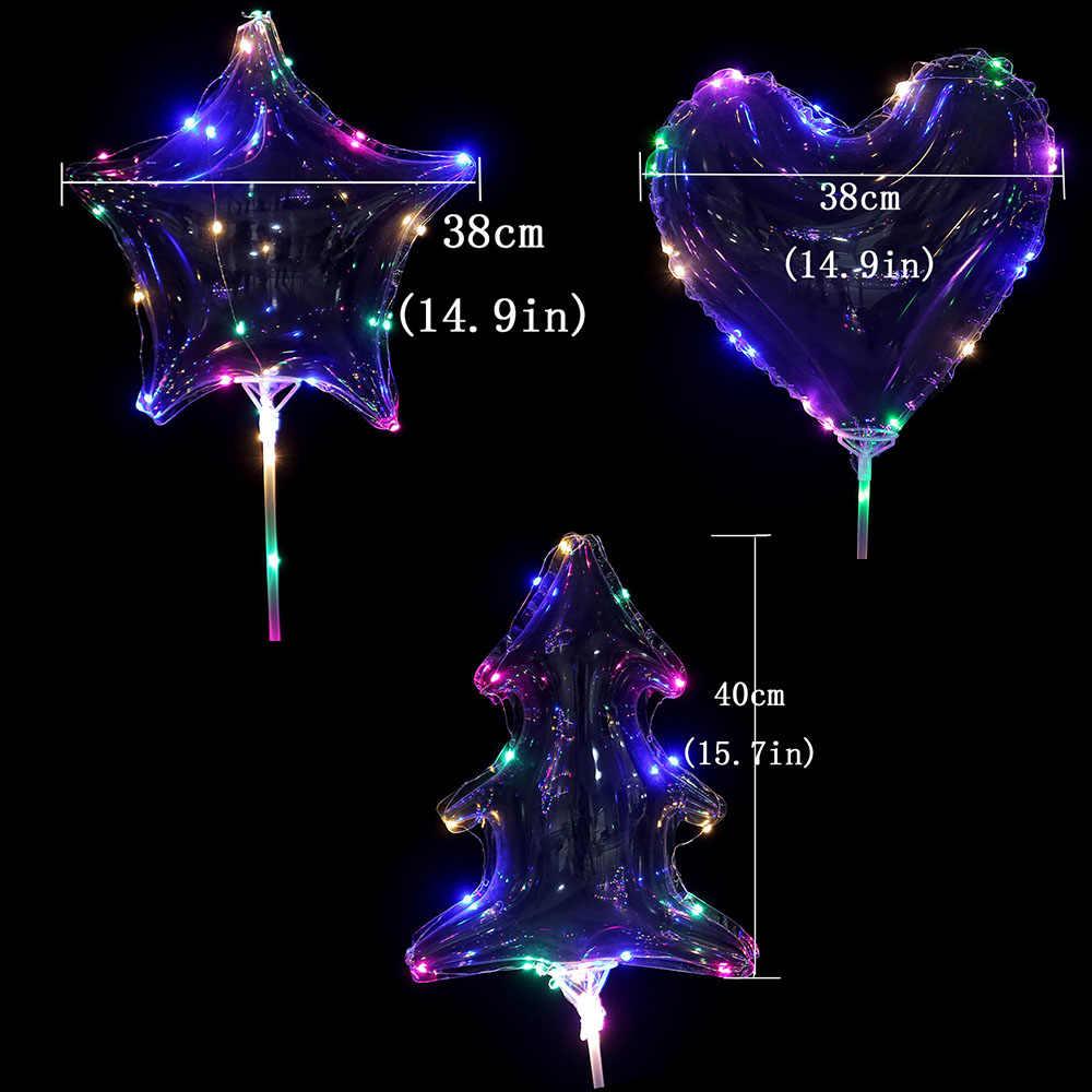 10 шт. BOBO globos светодиодный светильник шар сердце звезда дерево гелиевые шары Свадебные украшения для дня рождения 20 дюймов