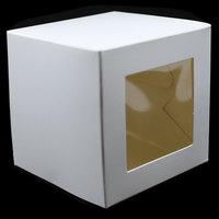 DHL Bianco Scatola di Cartone di Imballaggio Con Finestra Trasparente Pieghevole Scatola Regalo Craft Caramella di Cioccolato Pacchetto di Nozze Birthday Party Favor