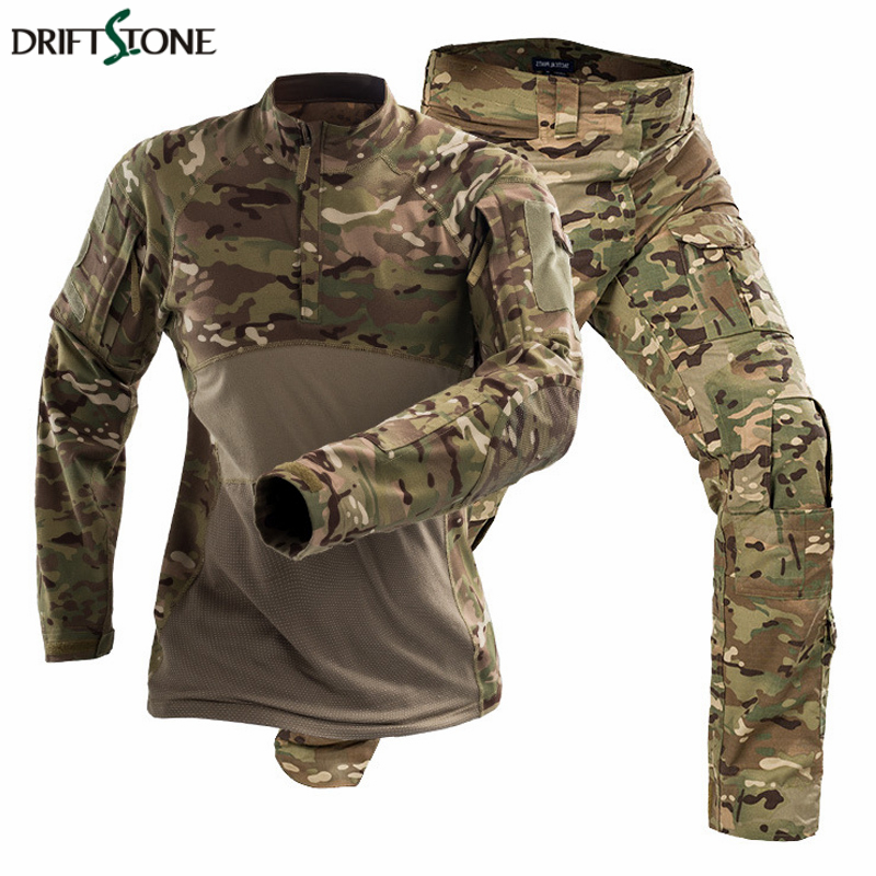 Men Tactical Uniforms Camouflage Airsoft Military Clothing Paintball Jackets Pants No Pads Combat Special Force Suits image