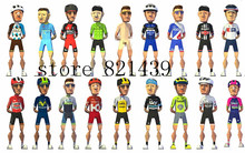 2016 Good quality tour de france men's bicycle racing team cycling jersey sets brathable bike uniform cycling shorts kit