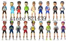 2016 Good quality tour de france men's bicycle racing team cycling jersey sets brathable bike uniform cycling shorts kit