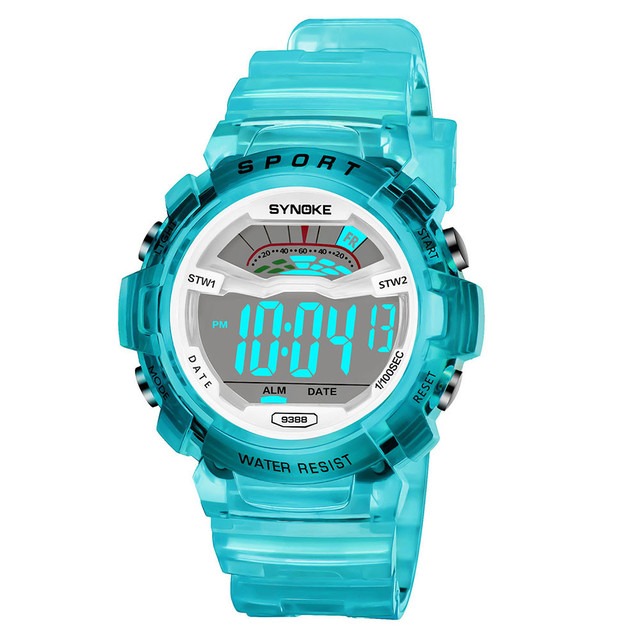 Children Boys Student Waterproof Sports Watch LED Digital Date Wristwatch