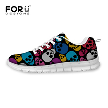 Fashion 6 Color Men Skull Canvas Shoes Casual Lace-up Breathable Ladies Walking Shoes Flat Footwear Zapatos Mujer Female Shoes