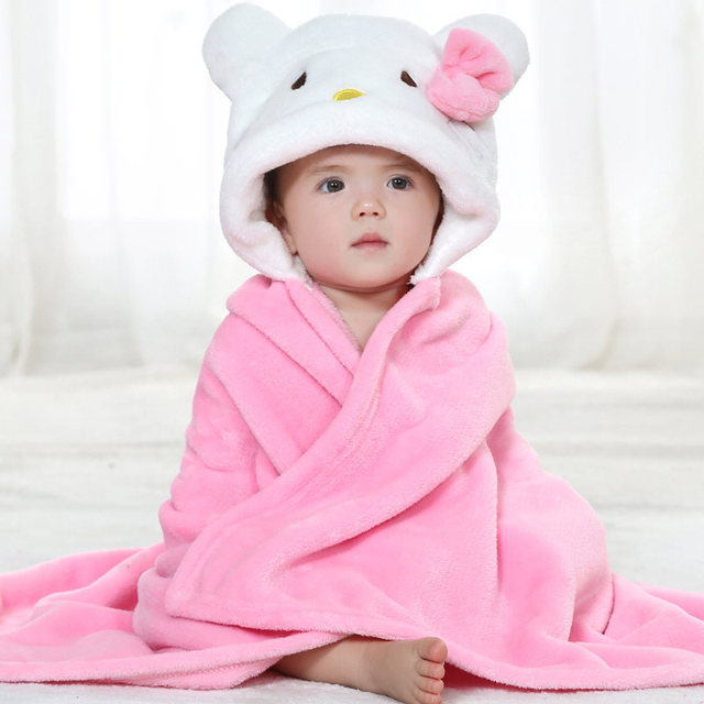 New Baby Blankets Size 90*80cm  Cartoon Bear Warm Blanket High Quality Receiving Blanket For Newborn 0-2 Years Unisex Boys Girls