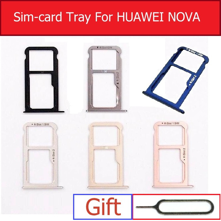 Sim & Micro SD Card Tray For Huawei NOVA CAN-L01 L02 L03 L11 L12 L13 Memory &SIM Card Connector Holder Adapter Replacement Parts