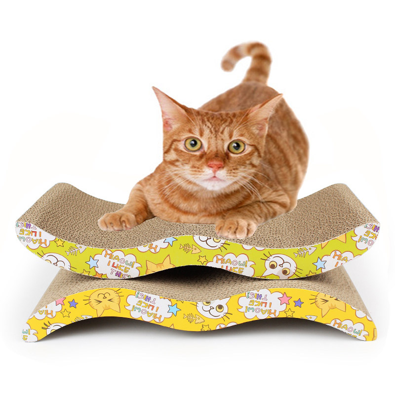 Kitten Grinding Nail Cat Scratcher Toy S-shape M-shape Arch-shape Durable Scratching  Board Cat Mint For Free