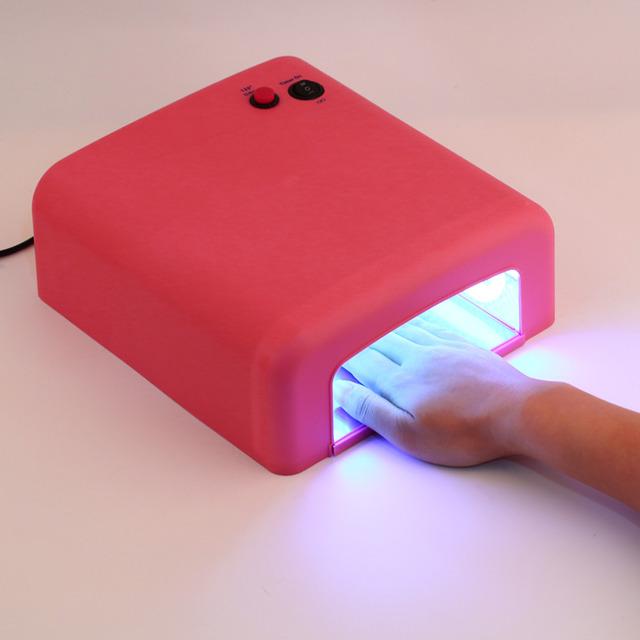 1 Unidades Lámpara UV Profesional 36 w Enchufe de LA UE 220 v Gel Uña Cura Arte La Luz Temporizador Secadora con 4 unids 365nm bulb