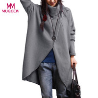 Sweater female plus size S 4XL Women's Turtleneck Asymmetric Hem Long Sleeve Sweater Knitting cardigan winter sudaderas mujer