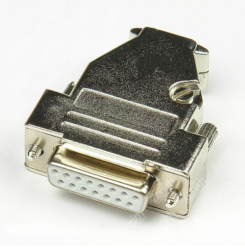 Top D-Sub 15-pin DB15 connector (female) solid pin module + removable metal housing 557 107nf3 02b d sub backshells light weight solid banding b mr li