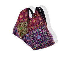 2017 New Fashion Embroidery dumplings Shoulder Bag!Hot Tote Handmade Embroidered Ethnic Characteristics Canvas Women's Handbags(China)