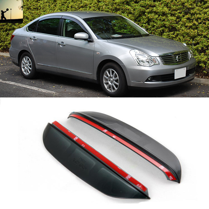 FOR NISSAN SYLPHY Nissan Bluebird Nissan Almera G11 From 2005 to 2012  rearview mirror rain eyebrow Rainproof Flexible Blade