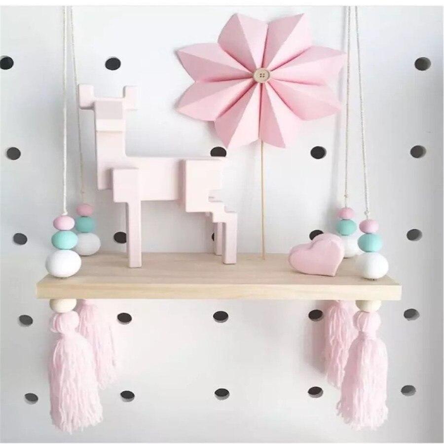 Nordic Style Macaron wood Creative Shelf Separator wood shelf Decor children' room Wall Decor For Kids Room Photography Props