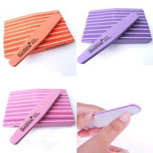 10pcs Nail Files Emery 100/180 Trimmer Buffer lime a ongle Nail Art Tools Double-side Washable Buffing Sanding File Sponge