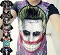Novo Esquadrão Suicida Harley Quinn Coringa T-shirt de Manga Curta Cosplay Filme Traje Modal Tops