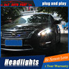Car Styling Newest LED Headlights For Nissan TEANA Rouge 2013 2014 Headlight Turn Signal DRL Bi