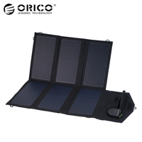 ORICO Foldable Solar Power Charging Pack USB 5V2.4A*2 MAX 5V4.8A DC 5V to 18V MAX 18V1.5A for Smartphones Laptop PVC Waterproof