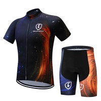 2017full Sublimation New Design Cycling Apparel Summer Breathable Black Cycling Clothing Quick Dry Compression Bike