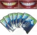 7 Pares Novos Dentes Branqueamento Tiras de Gel Clareador Dental Care Higiene Oral Clareamento Dental Branqueamento Branquear Os Dentes Sorriso Branco