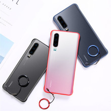 Ultra-thin Bare Metal Frameless Protective Cover Half-Packed Anti-Drop Transparent Matte Case For Huawei P30 P30Pro Coque