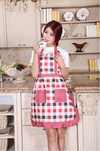 Free Shipping ! Women Bib Cotton Cooking Chef Floral Pocket Kitchen Restaurant Princess Apron