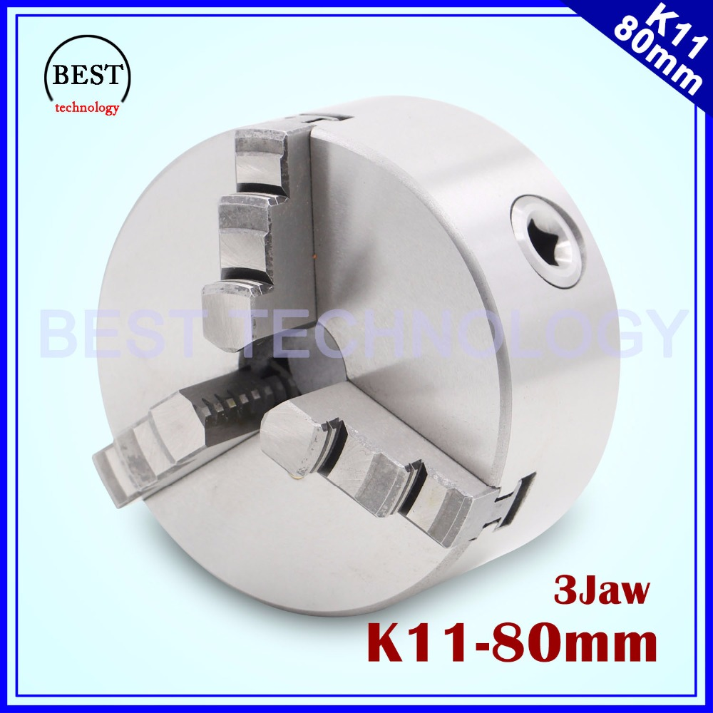 K11 80mm 3 jaw Chuck self-centering manual chuck four jaw for CNC Engraving Milling machine ,CNC Lathe Machine! cnc milling machine part rotational a axis 80mm 3 jaw chuck page 5