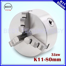 K11 80mm 3 jaw Chuck self-centering manual chuck four jaw for CNC Engraving Milling machine ,CNC  Lathe Machine!