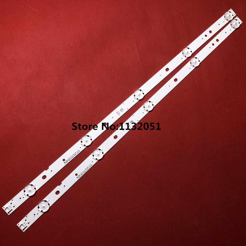 2 قطع * 5 المصابيح 510 ملليمتر LED الخلفية شرائط للتلفزيون TX-49DS500B LG Innotek 49 بوصة باناسونيك REV 0.4