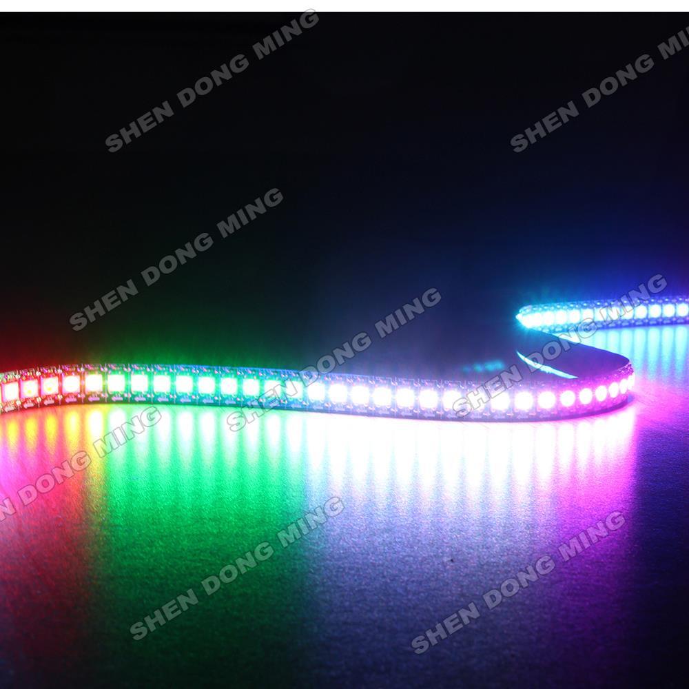 1 m/lot livraison gratuite lumière bande de pixel LED rgb WS2812 IC 5 V 5050 SMD 144led lumière Flexible pas étanche décoration de la maison - 6