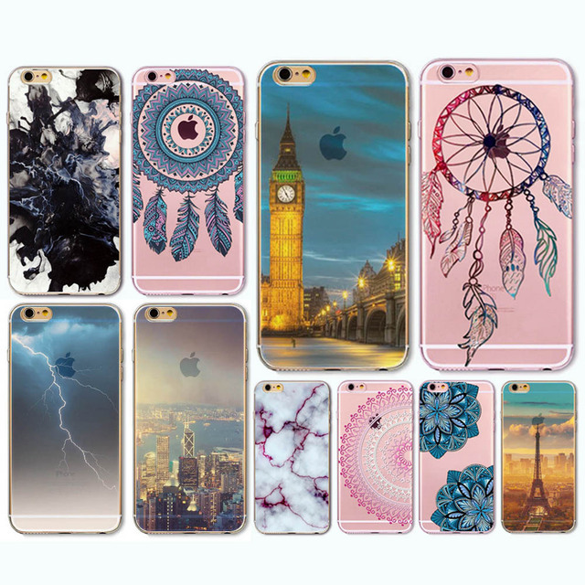 Amazing landscape Soft TPU Phone Cases For Apple iPhone6 6s CellPhone Cases Back Skin Cases